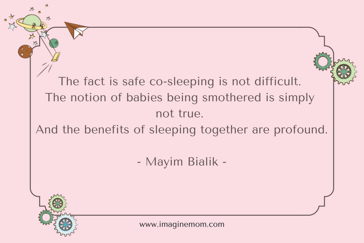 the fact is safe co-sleeping is not difficult. the notion of babies bing smothers