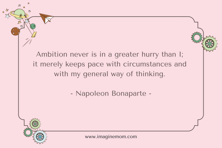 ambition never is in greater hurry than I; it merely