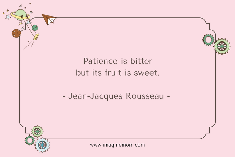 patience is bitter but its fruit is sweet. -jeab-jacques