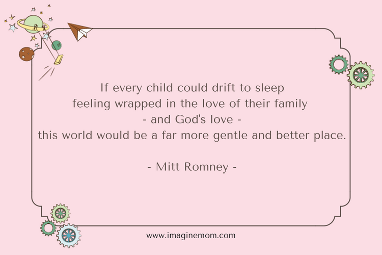 if every child could drift to sleep feeling wrapped in thr love of their